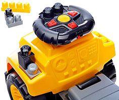 "Mega Bloks Cat 3-in-1 Excavator Ride-On Building Set - Toys""R""Us"