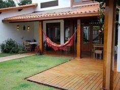Sao_Luis_Paraitinga - 010 #Fachadas Back Patio, Backyard Patio, Dream Home Design, My Dream Home, Pergola, Village House Design, Facade House, Home Deco, Future House