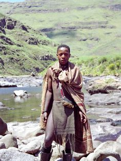 Herd Boy, Lesotho by Andrew, 2009 Cultures Du Monde, World Cultures, African Tribes, African Men, Xhosa, World 7, Egypt Art, Out Of Africa, African Culture
