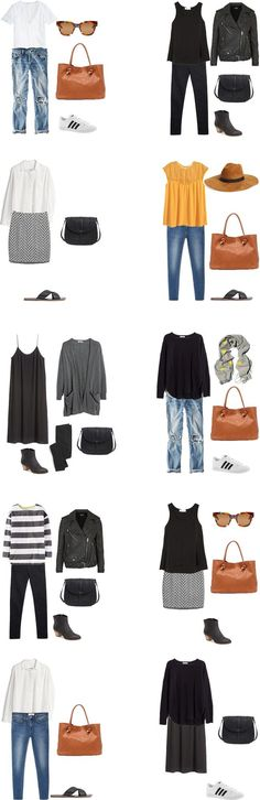 What to Wear on a mixed climate trip outfit options 1-10 #travellight…