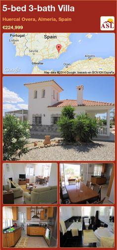 5-bed 3-bath Villa in Huercal Overa, Almeria, Spain ►€224,999 #PropertyForSaleInSpain