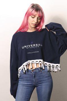 universal studios sweatshirt with hem detail — iamkoko.la