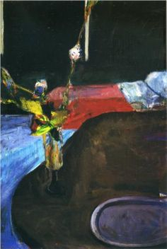 Interior with Flowers - Richard Diebenkorn