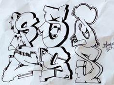 die 239 besten bilder von graffiti abc fonts graffiti alphabet und graffiti lettering. Black Bedroom Furniture Sets. Home Design Ideas