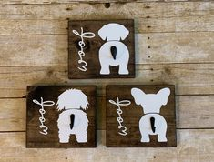 Dog Crafts, Wooden Crafts, Crafts To Sell, Arte Pallet, Obelix, Dog Leash Holder, Dog Signs, Animal Projects, Animal Decor