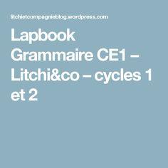 Lapbook Grammaire CE1 – Litchi&co – cycles 1 et 2