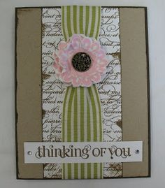 All Stamping World: Thinking of You card - Stampin' Up redo