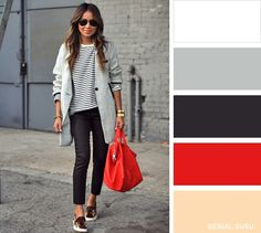 Ten classic clothing combinations to get the perfect image - Color palette - Kombination Colour Combinations Fashion, Color Combinations For Clothes, Fashion Colours, Colorful Fashion, Color Combos, Color Trends, Color Schemes, Classic Style Women, Classic Outfits