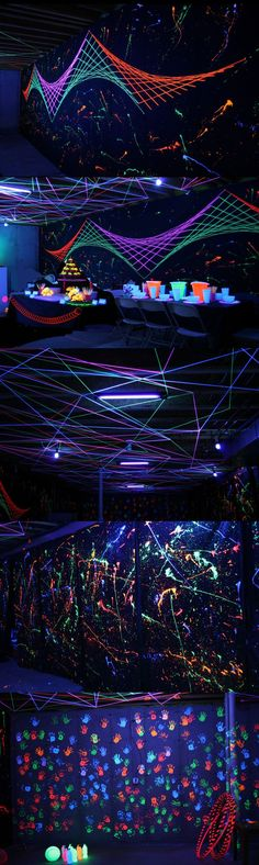 Holidays and Events: Crazy-cool black light Halloween party
