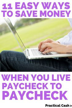 Saving money when living paycheck to paycheck is possible. Anyone can start setting aside money in an emergency fund or savings account, even with the tightest budget. Check out these 11 strategies for breaking the living paycheck to paycheck cycle! Money Saving Challenge, Money Saving Tips, Money Tips, Money Hacks, Financial Tips, Financial Planning, Living On A Budget, Frugal Living, Savings Plan