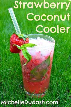 Summer is fast approaching, and while water is absolutely essential for staying hydrated during the warm weather, it's fun to mix things up a bit. Try Michelle's Fresh Strawberry Coconut Water Cooler for a refreshing and tasty pool-side drink!