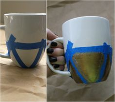 Decorate mug with sharpie or ceramic paint & bake in the oven at 350 degrees for 30 minutes. | http://jillianastasia.com/diy-mug-art/