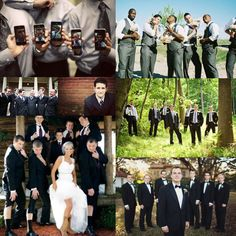 Groomsmen Picture Ideas...really like the one in the woods