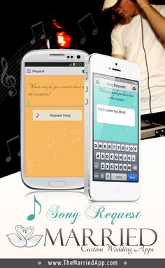 Wedding guests can request songs for the DJ to play through their smart phones! With the Married app, the DJ's website gets updated in real time with the jams your guests want to hear!