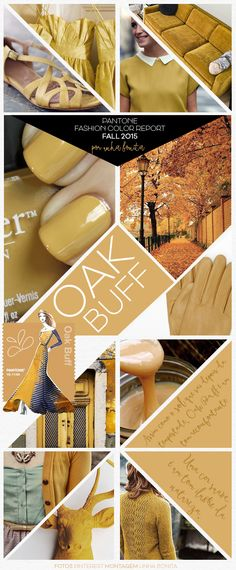 FALL 2015 Pantone Fashion Color Trend inspirations - OAK BUFF