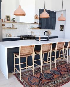 Boho Chic Interior Kitchen Designs and Decor Ideas - Bohemian Home Kitchen Küchen Design, Home Design, Ikea Design, Custom Design, Design Ideas, Living Room Interior, Interior Design Kitchen, New Kitchen, Kitchen Decor