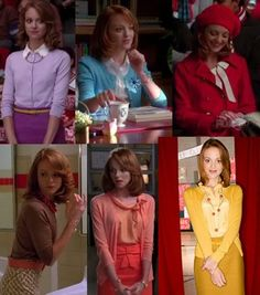 Emma Pillsbury has the best blouse and cardigan collection.  I envy her style.