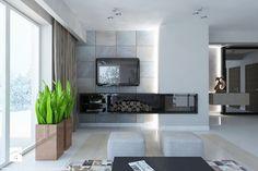 ściana z telewizorem i kominkiem - Szukaj w Google
