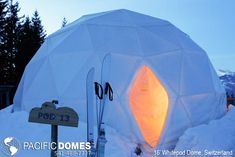 WhitePod Alpine Ski Resort - Monthey, Switzerland - 2012 - Angelique Buisson (possible honeymoon location) Alpine Ski Resort, Alpine Skiing, Alpine Lodge, Ski Ski, Tiny House, Geodesic Dome, Swiss Alps, Winter Wonder, Space Travel