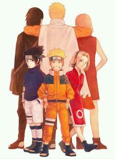 Team 7 Naruto, Sasuke, and Sakura. Naruto Team 7, Naruto Kakashi, Anime Naruto, Naruto Shippuden Sasuke, Naruto Family, Naruto Fan Art, Naruto Gaiden, Sarada Uchiha, Naruto Cute