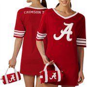 Alabama Crimson Tide Ladies Crimson Nightgown & Mini Duffel Bag
