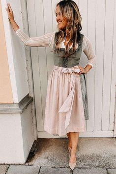 Camilla, Dirndl Outfit, Julia Trentini, Ludwig Therese, Cord, Midi Skirt, Blush, Mint, Skirts
