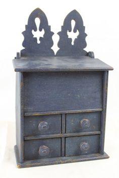 old blue spice box