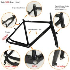 495.00$  Watch now - http://alilkw.worldwells.pw/go.php?t=32713800283 - High quality 700C Road Bicycle Cyclecross Carbon Fiber Frame Road Bike Cyclocross Carbon Frameset , Factory Direct Marketing 495.00$