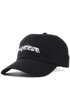 947d0e9d688 The Superieure Dad Hat in Black