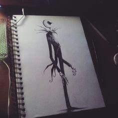 #JackSkellington #NightmareBeforeChristmas #Charcoal #Drawing