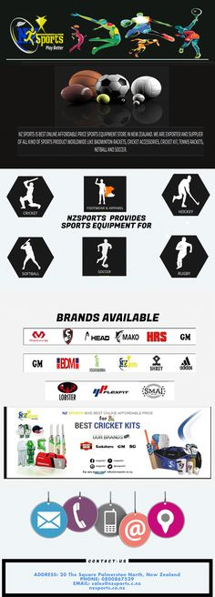 All Sports Products At One Place Nz sports  Shop any sports products #Football, #badminton, #cricket accessories, running shoes, #rugby and many more at best price range. Shop now and enjoy best sale on all products.