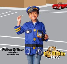 Whether for career play or Halloween, this sturdy costume set comes with fun accessories and can be worn for everyday dress-up! Click to learn more!