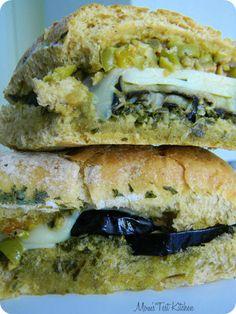 Mom's Test Kitchen: Eggplant Muffuletta #SundaySupper