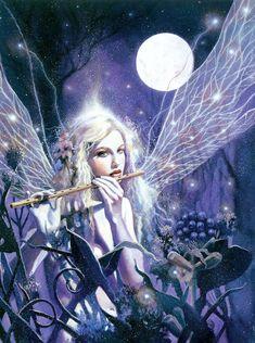 fairy in the moonlight by David de la Mare
