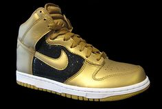 Women Nike Dunk Sequin Gold High Tops Dance shoes - Google Search