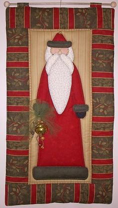 Jingle-Santa decorative quilted wall hanging                                                                                                                                                     More