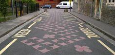 DIY Streets road art