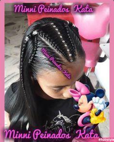 Lil Girl Hairstyles, Cute Braided Hairstyles, Cute Hairstyles For Kids, Hairstyle Ideas, Braids For Black Hair, Hair Color For Black Hair, Natural Hair Styles, Short Hair Styles, Cool Braids