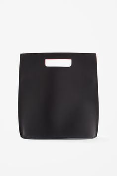 Contrast leather bag COS