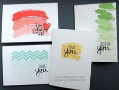 Julie's Stamping Spot -- Stampin' Up! Project Ideas Posted Daily: Sneak Peek: Work of Art Notecard Set