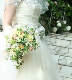 6月の花嫁 ラビュットボワゼ様の装花 : 一会 ウエディングの花