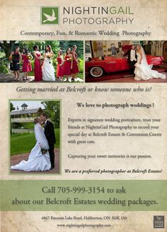 As a preferred photographer #nightingailphotography always has #special collections and #pricing for all #clients who booked #Belcroft Estates & Convention Centre and #NightinGail Photography.  #subject to availability. #Barrie wedding photographer