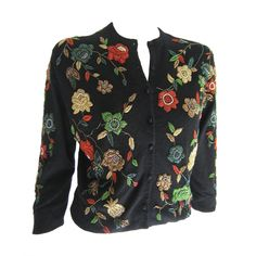 1950s Cashmere Beaded Cardigan   From a collection of rare vintage sweaters at http://www.1stdibs.com/fashion/clothing/sweaters/ --> for the love of cardigan