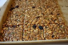 """""""Energy Bars"""" gonna try to sub pureed dates for the brown sugar."""