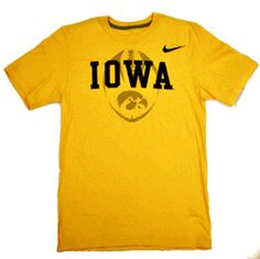 2012 Team Issue Gold Iowa Hawkeyes Football Tee by Nike©