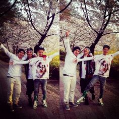 G-Dragon goes on a cherry blossom outing with Taeyang and Seungri