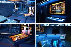 Cool Design of the Day: Apartment Turned into Transporter Control Console from Star Trek