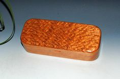 Wood Pen Box - Lacewood on Cherry - Handmade in the USA by BurlWoodBox - JewelryBox Gift Presentation Box Desk Box Small Wooden Pen Box by BurlWoodBox