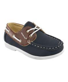 Look at this #zulilyfind! Akademiks Navy Mick Boat Shoe by Akademiks #zulilyfinds