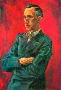 Rudolf Schlichter -  Ernst Jünger Portrait